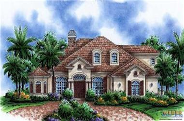 6-Bedroom, 4083 Sq Ft Country House Plan - 133-1001 - Front Exterior