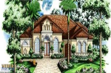 3-Bedroom, 3192 Sq Ft Mediterranean Home Plan - 133-1002 - Main Exterior