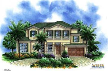 3-Bedroom, 3368 Sq Ft Florida Style Home Plan - 133-1003 - Main Exterior