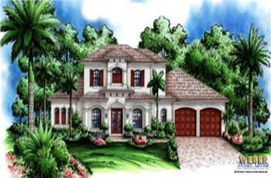 5-Bedroom, 3397 Sq Ft Coastal House Plan - 133-1004 - Front Exterior