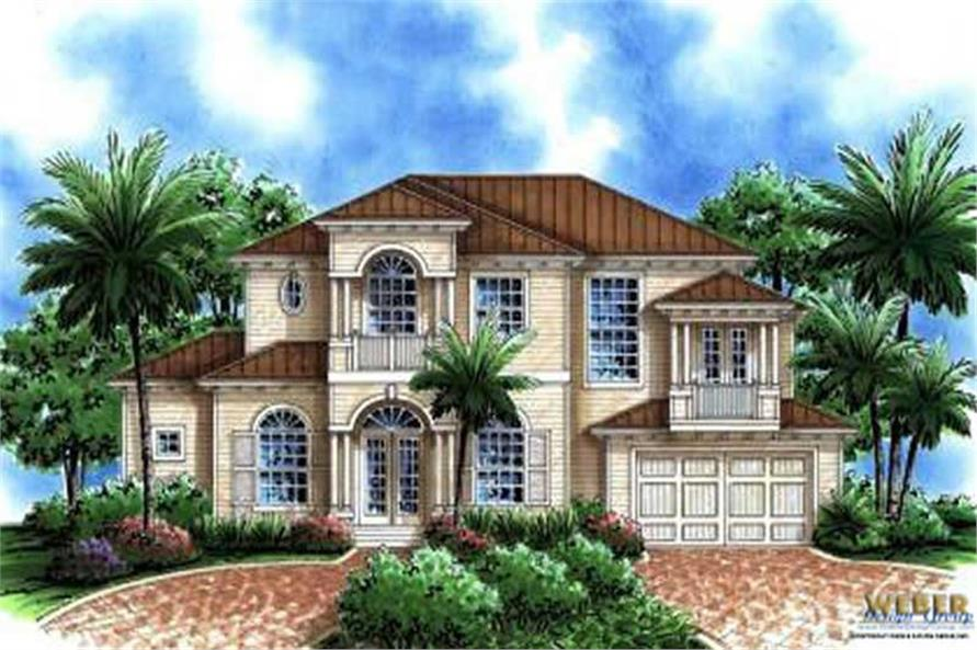 Florida Style House Plans Home Design 133 1008