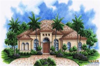 3-Bedroom, 2511 Sq Ft Mediterranean Home Plan - 133-1010 - Main Exterior