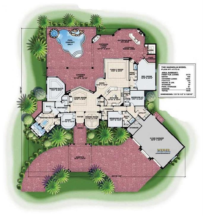 Mediterranean House Plans Home Design WDGF14173G