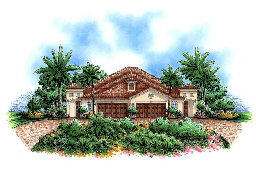 3-Bedroom, 4386 Sq Ft California Style Home Plan - 133-1015 - Main Exterior