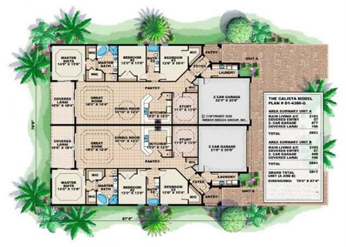 floor plans for these duplex house plans and mediterranean house plans