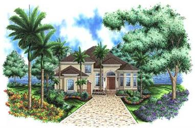 3-Bedroom, 3281 Sq Ft Florida Style Home Plan - 133-1016 - Main Exterior