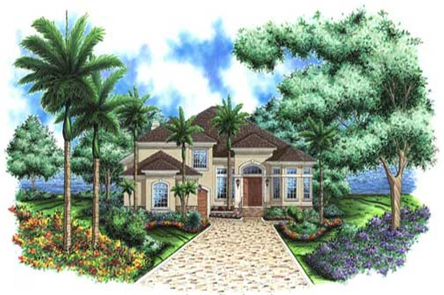 #133 1016 · This Image Shows The Mediterranean Style For This Set Of House  Plans.