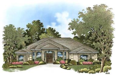 3-Bedroom, 3200 Sq Ft Ranch House Plan - 133-1017 - Front Exterior