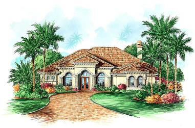 3-Bedroom, 3250 Sq Ft Luxury House Plan - 133-1018 - Front Exterior