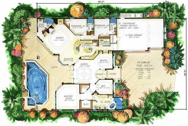 Custom Golf Course Homes Floor Plans Over 5000 House Plans