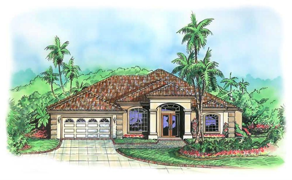 These Mediterranean House Plans have a wonderful exterior.