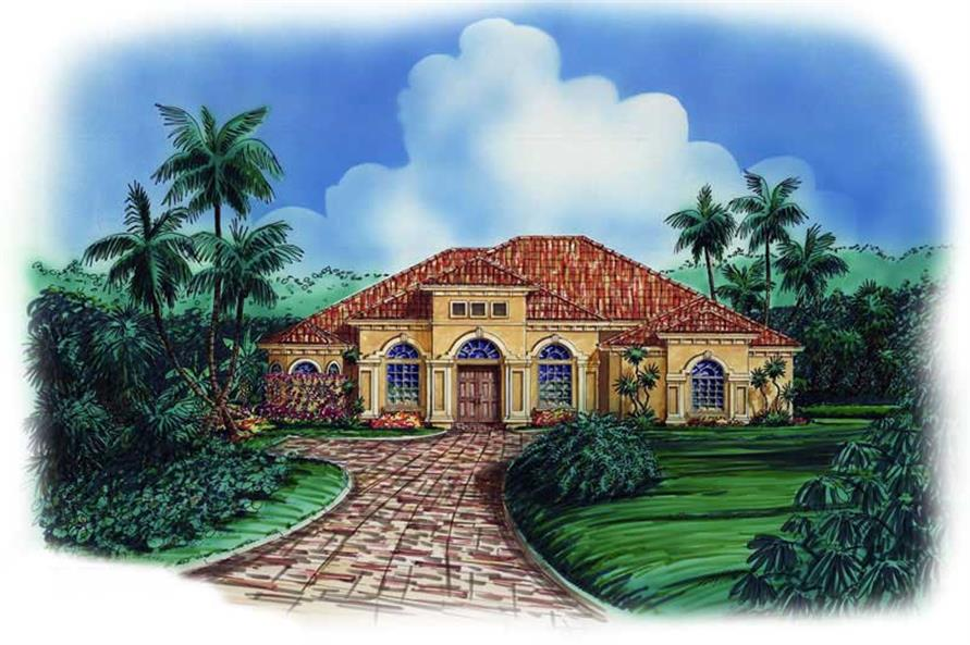 4-Bedroom, 2980 Sq Ft Coastal House Plan - 133-1024 - Front Exterior