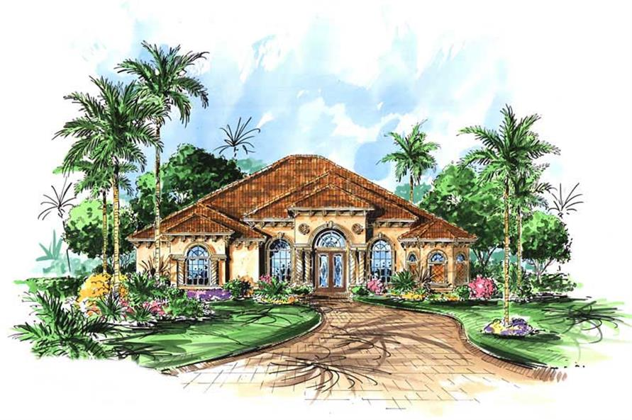 3 bedrm 2878 sq ft mediterranean house plan 133 1028 for 3000 sq ft mediterranean house plans