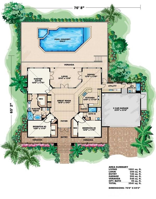 florida house plans vacation house plan coastal home designs 9689
