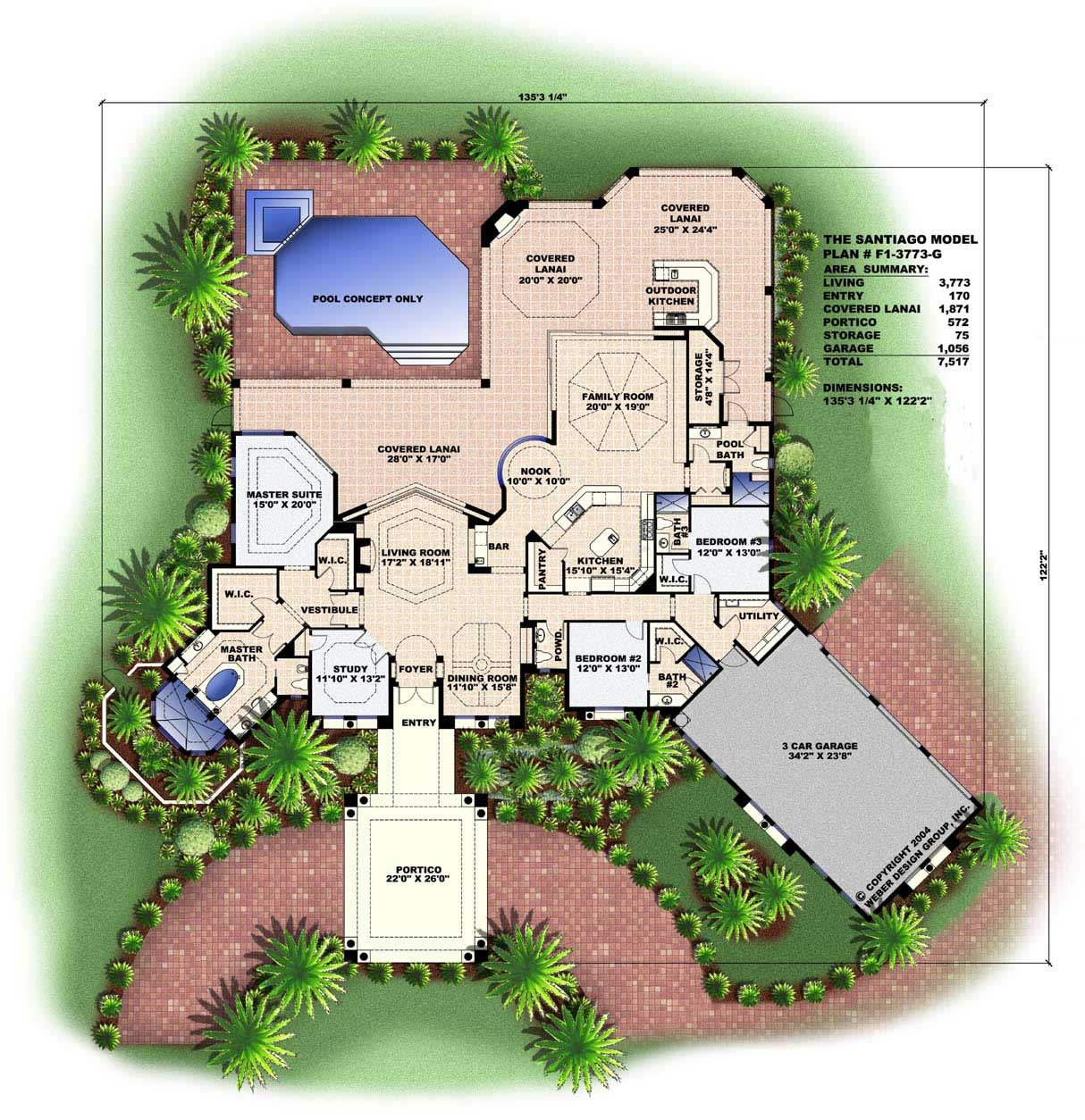 Mediterranean designs florida house plans home design for Mediterranean style floor plans