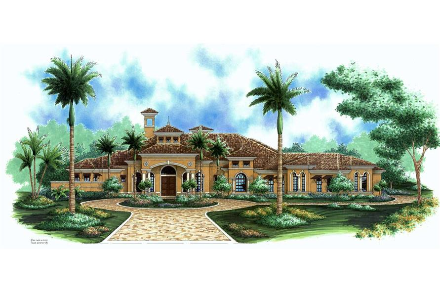 #133 1032 · This Image Shows The Mediterranean Style For This Set Of Home  Plans.