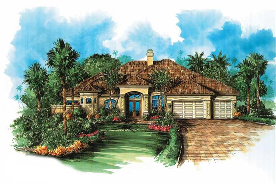 4-Bedroom, 3179 Sq Ft Coastal House Plan - 133-1038 - Front Exterior