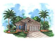 Mediterranean House Plans WDG-G1-1992 front elevation rendering.