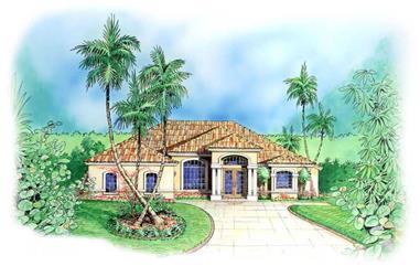 4-Bedroom, 2240 Sq Ft Coastal Home Plan - 133-1041 - Main Exterior