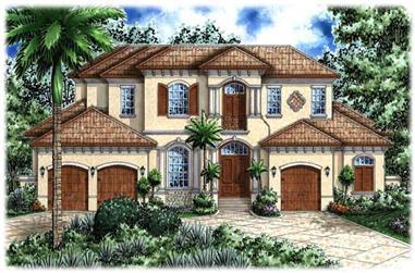 6-Bedroom, 5680 Sq Ft Mediterranean Home Plan - 133-1044 - Main Exterior