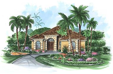 3-Bedroom, 2665 Sq Ft Florida Style Home Plan - 133-1045 - Main Exterior