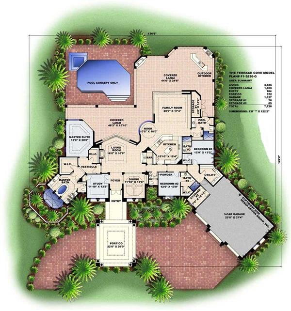 Floor Plan for this set of house plans.