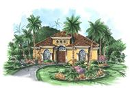 Main image for house plan # 11523, Mediterranean Home Plans, Florida Designs.