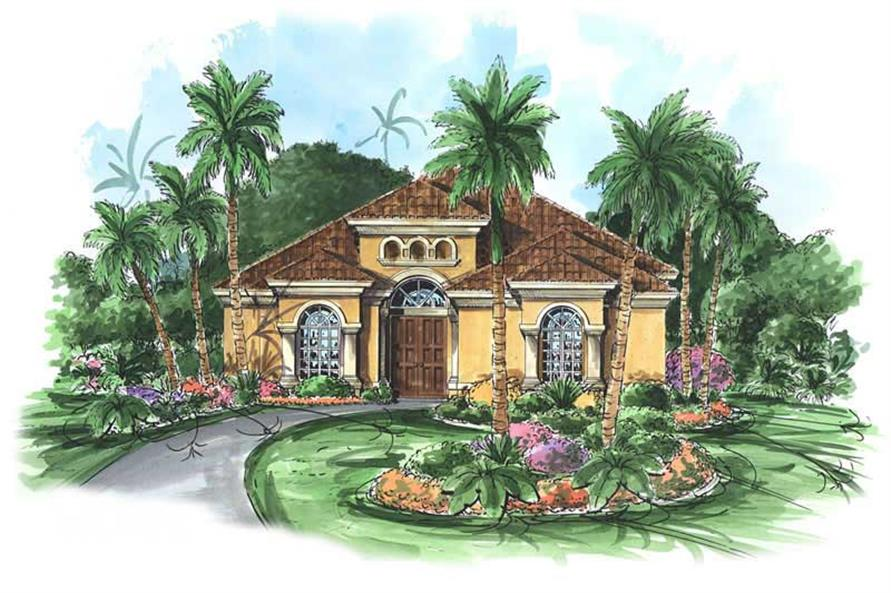 4-Bedroom, 2750 Sq Ft Coastal Home Plan - 133-1049 - Main Exterior