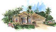 Mediterranean Homeplans WYNHAM color elevation.