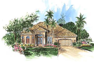 4-Bedroom, 2467 Sq Ft Ranch Home Plan - 133-1052 - Main Exterior
