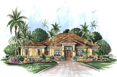 3-Bedroom, 2764 Sq Ft Coastal Home Plan - 133-1054 - Main Exterior