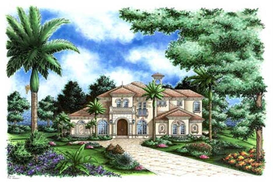 4-Bedroom, 4405 Sq Ft Luxury Home Plan - 133-1055 - Main Exterior
