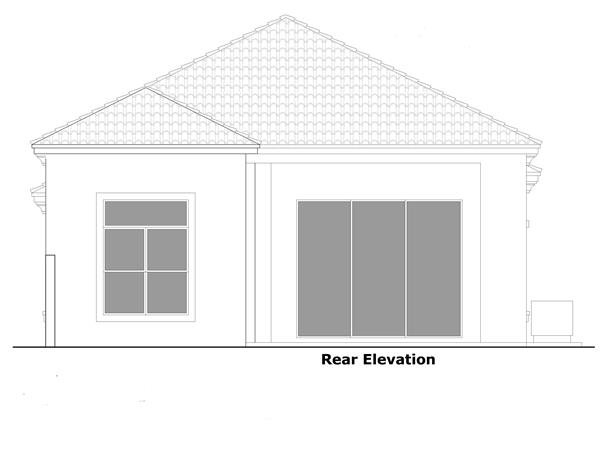 133-1057: Home Plan Rear Elevation