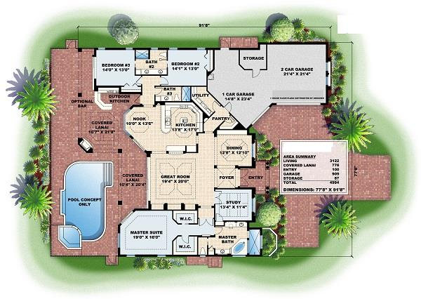 133-1060 house plan  main level