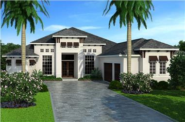 3-Bedroom, 3489 Sq Ft Coastal House Plan - 133-1086 - Front Exterior