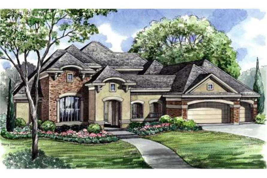 4-Bedroom, 4101 Sq Ft Luxury Home Plan - 134-1000 - Main Exterior