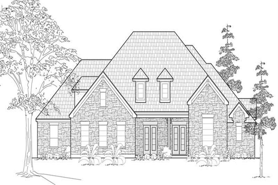 4-Bedroom, 3996 Sq Ft Farmhouse House Plan - 134-1004 - Front Exterior