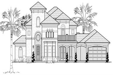 3-Bedroom, 3955 Sq Ft Home Plan - 134-1005 - Main Exterior