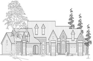3-Bedroom, 3757 Sq Ft Farmhouse House Plan - 134-1006 - Front Exterior