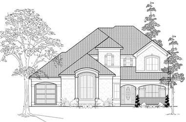 3-Bedroom, 3806 Sq Ft Luxury Home Plan - 134-1008 - Main Exterior