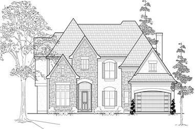 4-Bedroom, 4108 Sq Ft Luxury Home Plan - 134-1009 - Main Exterior
