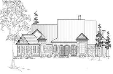 3-Bedroom, 3950 Sq Ft Farmhouse House Plan - 134-1012 - Front Exterior