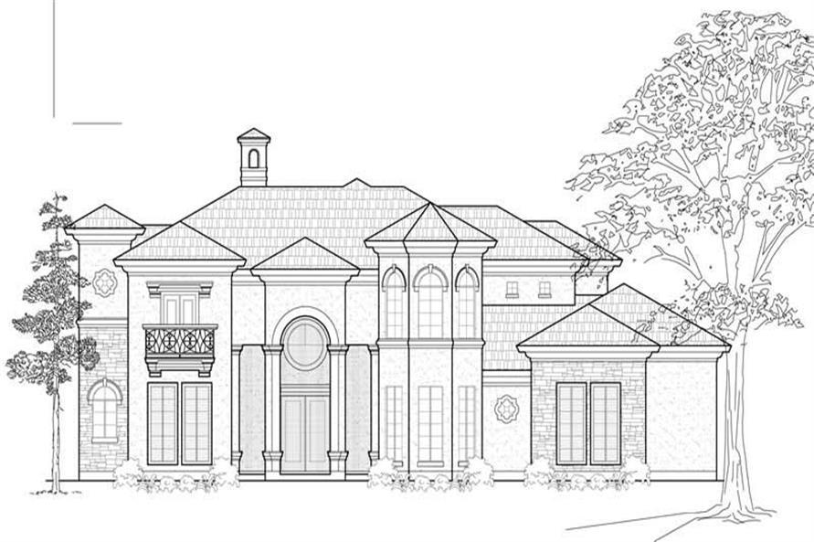 Home Plan Front Elevation of this 3-Bedroom,4145 Sq Ft Plan -134-1013