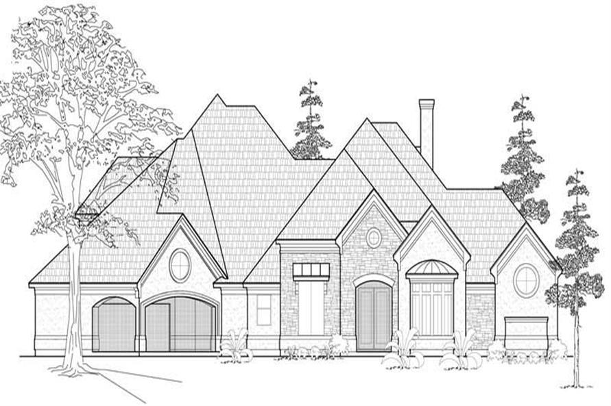 134-1014: Home Plan Front Elevation