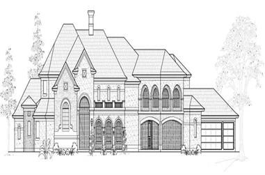 4-Bedroom, 7557 Sq Ft Luxury House Plan - 134-1019 - Front Exterior