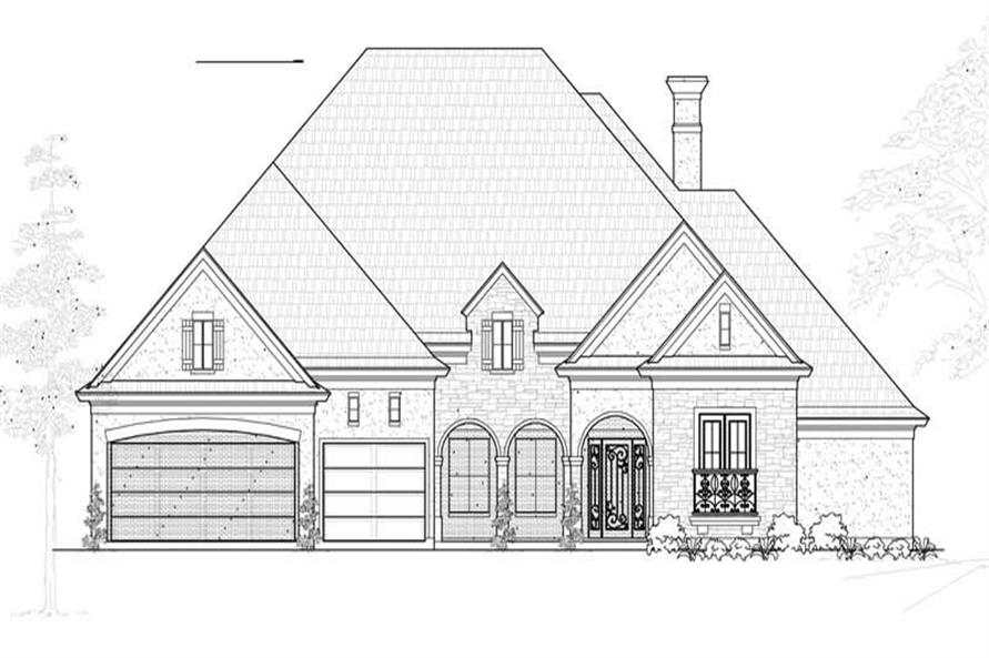 Main image for house plan # 19090