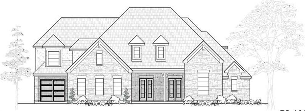 Farmhouse home (ThePlanCollection: Plan #134-1021)