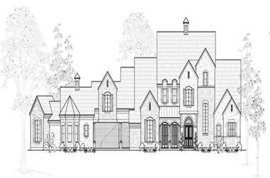 4-Bedroom, 6543 Sq Ft Farmhouse House Plan - 134-1022 - Front Exterior