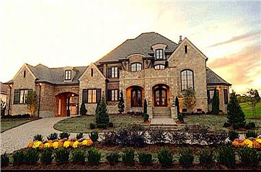 4-Bedroom, 6634 Sq Ft European Home - Plan #134-1027 - Main Exterior