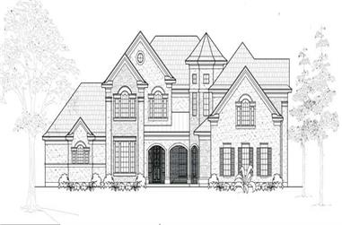 5-Bedroom, 3986 Sq Ft Luxury House Plan - 134-1028 - Front Exterior